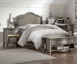 Antique Finish Bedroom Furniture Kensington Silver Finish Size Panel Bed 30010 Ne