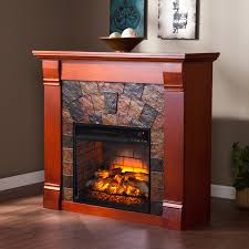 Infrared Electric Fireplaces by Southern Enterprises Elkmont Salem Antique Oak Electric Fireplace
