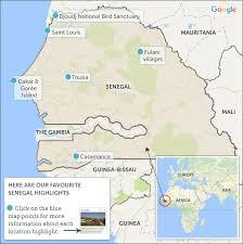 africa map senegal senegal travel guide helping dreamers do