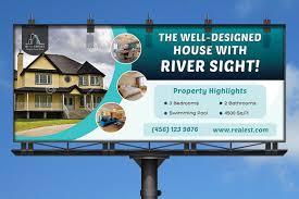 real estate business billboard templates creative market