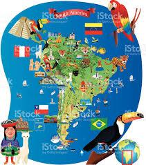 Lima Map South America Cartoon Map Stock Vector Art 474202734 Istock
