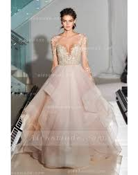 organza wedding dress gorgeous lace gown cascading pearls pink organza wedding