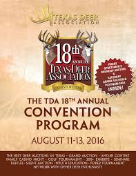 18th annual tda convention program 2016 by texas deer association