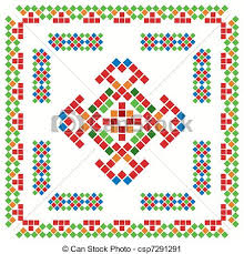 traditional mexican ornaments set vector clip search