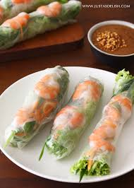 vietnamese shrimp roll with peanut hoisin sauce gỏi cuốn with