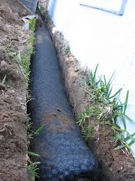 home design outstanding how to install a french drain wth pipe