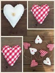 handmade fabric shabby chic love heart wedding nursery bunting