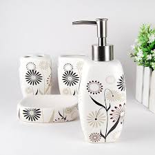 marvellous white ceramic bathroom accessories set gallery best