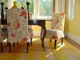 Elegant Chair Covers Flowers Pattern Seat Covers For Dining Room Chairs Leather Dining