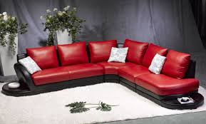 Black And Red Sofa Set Designs Red Sofas Leather Tehranmix Decoration