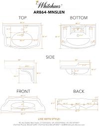 whitehaus ar864 mnslen large rectangular bathroom sink with