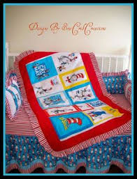 Cat In The Hat Crib Bedding Set Baby Dr Seuss Fabric Crib Bedding Set Rag Quilt Valance Sheet
