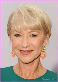 hair styles for women over 60 with thin hair helen mirren short hairstyle for women age over 60 short