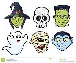 pictures of halloween monsters halloween character icons stock illustration image 41540214