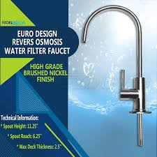 kitchen filter faucet amazon com ronaqua water filter purifier faucet european style