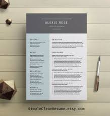Resumes Templates For Word Modern Resume Template Cv Template Word Cover Letter