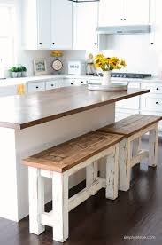 Butterfly Kitchen Table Kitchen Table Square Farmhouse With Bench Concrete Reclaimed Wood