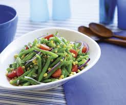 green bean salad with corn cherry tomatoes u0026 basil finecooking