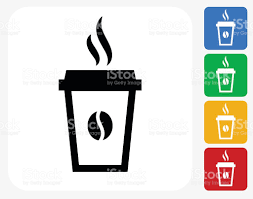 Coffee Cup Design by Steamy Coffee Cup Icon Flat Graphic Design Stock Vector Art