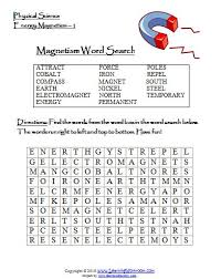 learning ideas grades k 8 magnetism word search and video