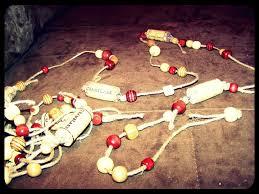diy wine cork christmas tree garland bona fide boho