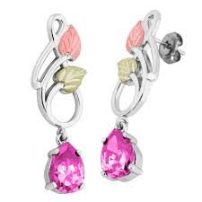 black dangle earrings landstrom s black gold on silver dangle earrings with