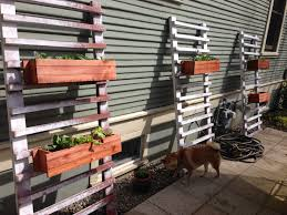 Recycled Wood by Diy Vertical Backyard Garden Planter Boxes Using Reclaimed And