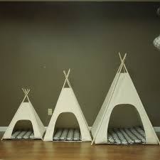 large dog teepee pet tent 36 base natural canvas pick