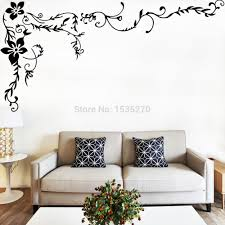 aliexpress com buy wonderful flower vine wall stickers for home
