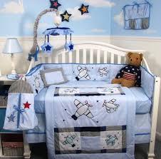 baby nursery decor bright small corner bedding airplane baby