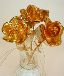 gold roses 3 gold bouquet gold dipped roses