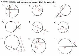 maths worksheets circle theorems