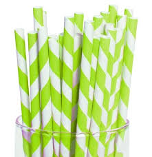 paper straws lime green white striped paper straws bachelorette party supplies