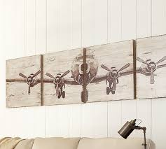 Pottery Barn Mobile Site Planked Airplane Panels Set Pottery Barn