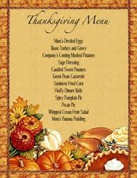 thanksgiving dinner menu clipart clipartxtras