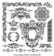 vector clipart of ornamental design element of lviv historical
