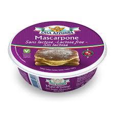 cuisine sans lactose lactose free mascarpone 250g casa azzurra italia