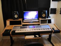 Bedroom Studio Desk Inspirations Also And Small Recording Picture
