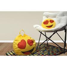 Furniture Emoji Emoji Pals Eyes For You Mini Bean Bag With Handle Walmart Com