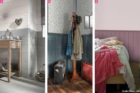 lambris mural chambre déco bas de murs lambris moulure peinture maison créative