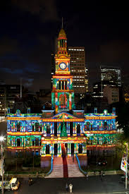 Projector Lights Christmas by One Of Sydney U0027s Most Historic Building Dressed In Christmas Cheer