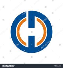 h logo initial letter design template stock vector 747784618