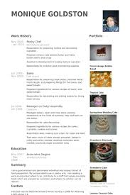 Chef Resume Objective Pastry Chef Resume Samples Visualcv Resume Samples Database