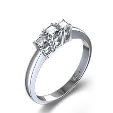3 diamond rings three 3 8 ctw princess cut diamond engagement ring in 14k