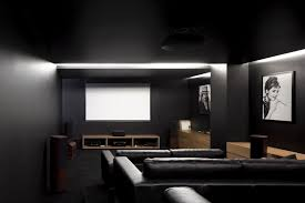 home theater room design ideas bulb hanging lamps pink l shape
