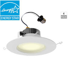 led recessed ceiling lights home depot commercial electric 5 in and 6 in white recessed led trim 4 pack