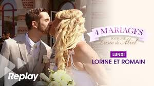 quatre mariages pour une lune de miel replay 4 mariages pour 1 lune de miel du 4 décembre 2017 lorine et