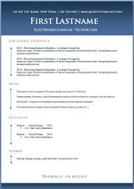 Template For Resume Word Free Professional Resume Template Downloads 8 Effective And Free