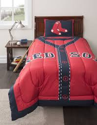 Red Bedroom Comforter Set Mlb Boston Red Sox Twin Comforter Set Baseball Jersey Bed