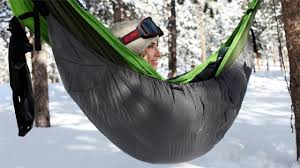 camping hammocks are good for any weather with inferno insulation